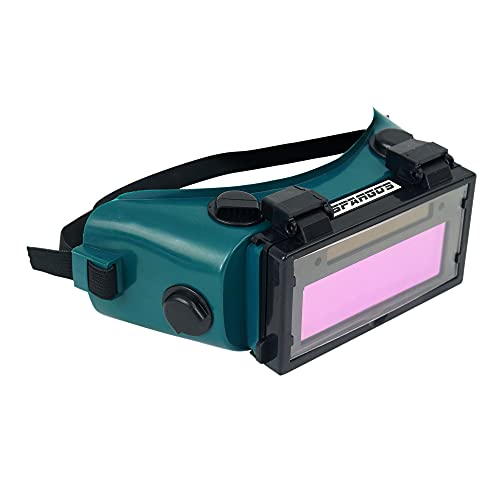 Product Image of the Spargos Welding Goggles Auto Darkening LCD Helmet Mask Solar Welder Eyes Glasses Gas Flip Up Lens Eye Protection