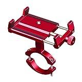 CHEREEKI Porta Cellulare Bici, Supporto Bici Smartphone Lega di Alluminio con 360° Rotazi...
