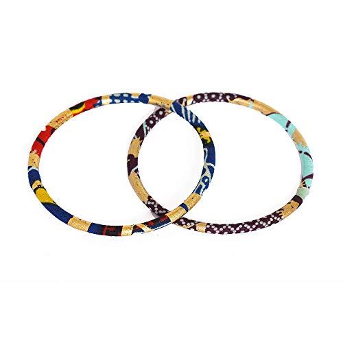 Pendientes de diseño de tejido wax africano, 100% algodón, hechos en Francia, rojo, negro, rosa, joyas coloridas elegantes hechas a mano, idea regalo original para mujer Boutique Mansaya