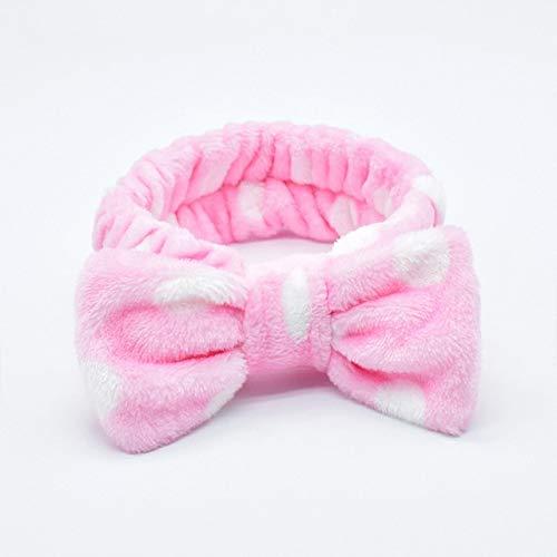 8 PcsWomen's Cute Fashion Girls Wash Makeup Headband Children Kids Hair Band Bow Stretch Hair Band Hair Accessories Gite Gift Pink