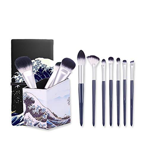 ZXIAOMEI Maquillage multifonction brosse 10 de haute qualité non irritant fibres synthétiques Brosses avec sac cosmétique Voyage et Tube cosmétique