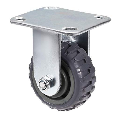 YeVhear 4 Zoll PVC-Rad mit oberer Platte, Kapazität 132 lbs, Grau