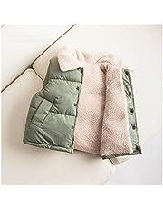 Ropa de abrigo Niñas, niñas, chaleco, chaqueta, chaleco, chaleco, chaleco, chaleco, chaqueta sin mangas de invierno, ropa exterior de invierno, gilete Invierno ( Color : Green , tamaño : XX-Large )