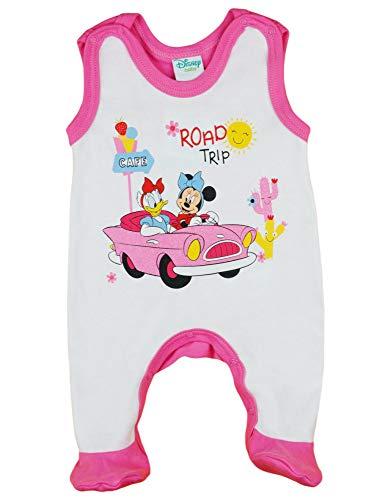 Disney Baby Strampler Minnie Mouse Babybekleidung Einteiler ärmellos mit Füßchen Mädchen Hose/Schlafanzug, Größe: 62