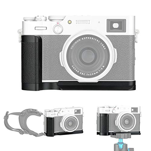 JJC Handgriff Kameragriff für Fujifilm Fuji X100V X100F | Verbessertes Handling | Arca Swiss schnellwechselplatte kompatibel mit Stativ | Akku direkt wechseln | Metall L-Platte