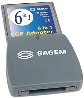 Sagem CompactFlash to MS Pro/MS/MMC/SM/SD/xD Card Adapter - Turn your CF Type I Card Slot into a 6-in-1 Card Reader!