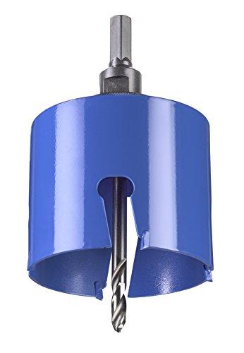 kwb Universal-Lochsäge – 80 mm Durchmesser-Größe, extra scharfe Zähne aus Hartmetall, 8 mm Zentrierbohrer