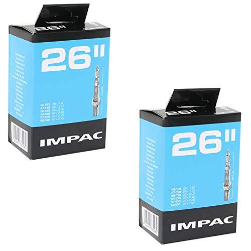 Impac 26' x 1.75-2.35 Mountain Bike Inner Tubes - Presta Valve (Pair)