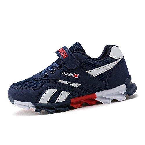 DUORO Kinder Sportschuhe Sneaker Jungen Mädchen Outdoor Atmungsaktive Turnschuhe Running Schuhe Straßenlaufschuhe (39 EU, Dunkelblau)