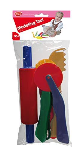 Gowi 185-15 gereedschap, keukenspeelgoed, set van 6, diverse kleuren