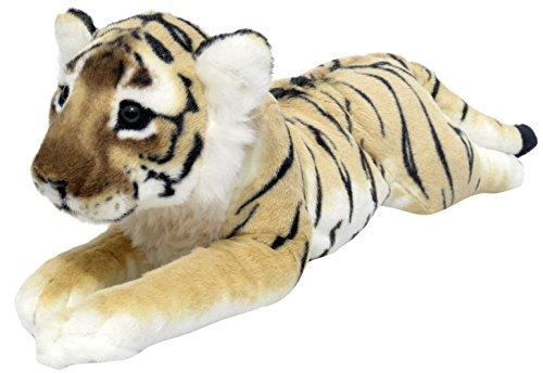 Wagner 2041 - Plüschtier Tiger Baby - liegend - braun - 60 cm Kuscheltier