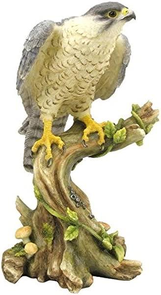 XoticBrands Decorative 5 31 Inch Peregrine Falcon Animal Statue Multicolor