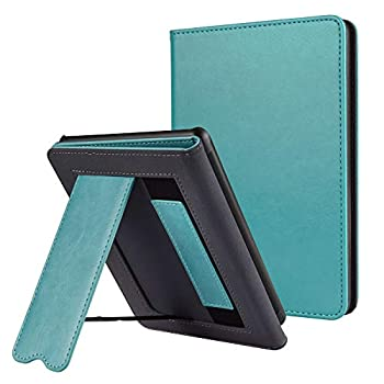 CoBak Kindle Paperwhite Case with Stand - Durable PU Leather Smart Cover with Auto Sleep Wake Hand Strap Feature ONLY Fits All New Kindle Paperwhite 10th Generation 2018 Released,Sky Blue