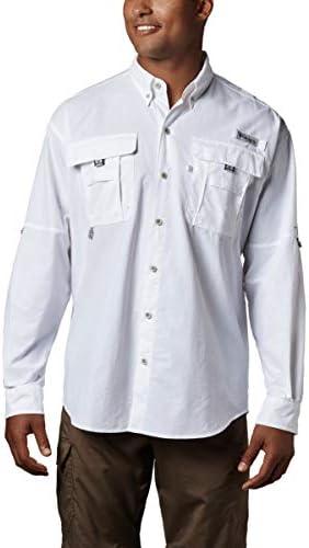 Columbia Men s PFG Bahama II Long Sleeve Shirt White XX product image