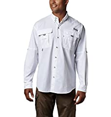 SUN PROTECTION: Columbia's signature Omni-Shade UPF 30 fabric blocks UVA and UBA ray to help prevent sunburn and longter skin damage during long hours in the sun. ADJUSTABLE FEATURES:  This men's fishing shirt features buttons at arms to convert long...