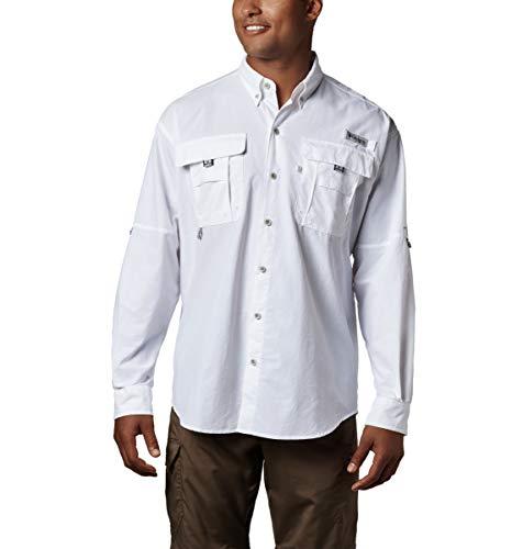 Columbia Sportswear Hombres de Bahama II de Manga Larga, Hombre, Color Blanco, tamaño Medium