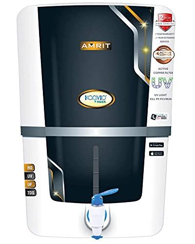 Konvio Neer Amrit Low Maintenance/Installation Free RO+UV+UF+TDS Adjuster Water Purifier with Advance UV and High 3000 TDS (Amrit)