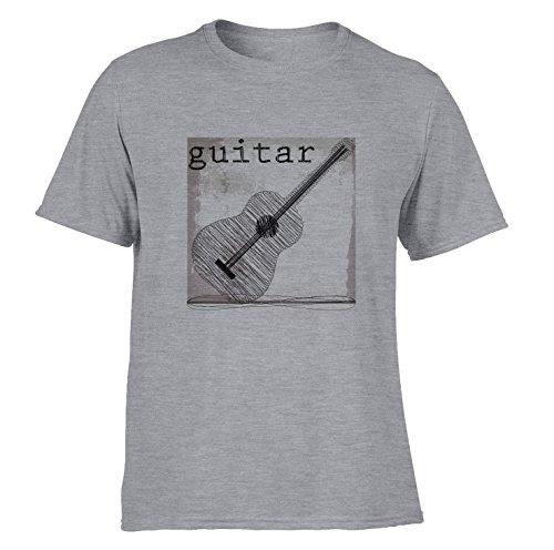 Kwaliteit Gitaar Speler Gedrukt T Shirts Vintage Ontwerp Akoestische Gitarist SP