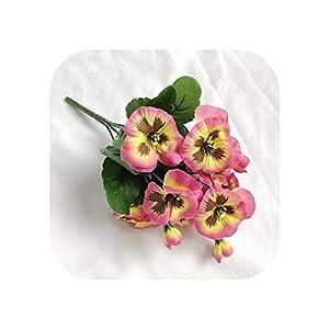 Silk Flower Arrangements Joyfeel-light Artificial Flowers 10 Inch Artificial Pansy Flowers Silk Fake Butterfly Orchid Flower Home Office Wedding Decoration