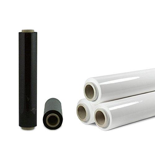 Rollo de film protector blanco o negro envases traslados