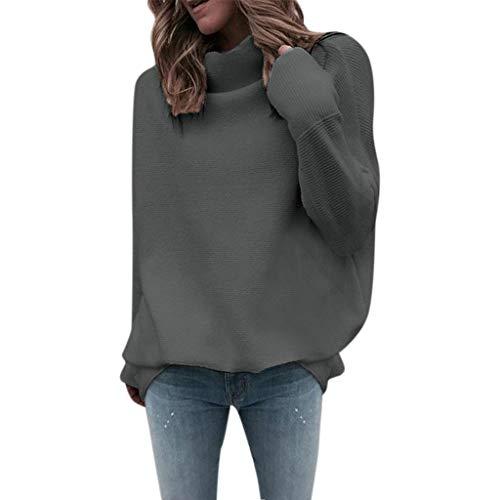FRAUIT dames rolkraag gebreide trui elegant losse trui met lange mouwen gebreide gebreide gebreide trui topmode streetwear warm zacht comfortabel sweater pullover
