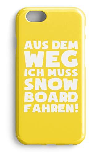 shirt-o-magic Handyhülle Snowboarder: Muss Snowboard fahren! - Case -iPhone 8-Gelb