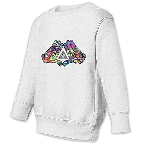 Diamond Hands Trippy Logo Sweatershirt for Toddler Long Sleeve Pullover Crewneck Cotton Sweatshirt for Children White