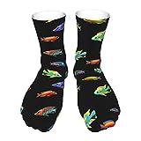 Cichlid Fish Escuela Africana Cíclidos Acuario Guardianes Criadores Tema Regalo Calcetines de Invierno Super Suave Térmica Ropa de Salón Calcetines de Calidad