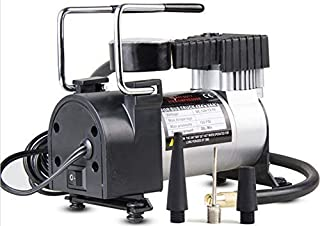 AREO Heavy Duty Electric Car Air Compressor Pump Portable Tire Tyre Inflator,Cooper Winding, 12V Dc, 140 Psi/Min Air Flow
