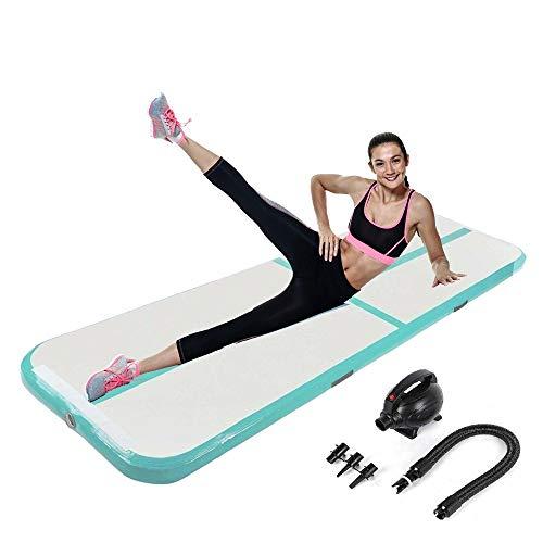 panthem Aufblasbare Gymnastikmatte Fitnessmatte 3m Länge mit Elektrische Luftpumpe und Tragetasche, Gymnastik Tumbling Matte Air Turnmatte Trainingsmatte für Zuhause Outdoor Yoga