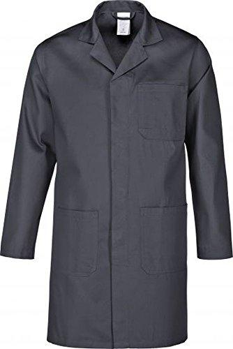 Arbeitsmantel- Berufsmantel-Berufskittel - Kittel grau , reine Baumwolle Gr.XS-5XL (S, Grau)