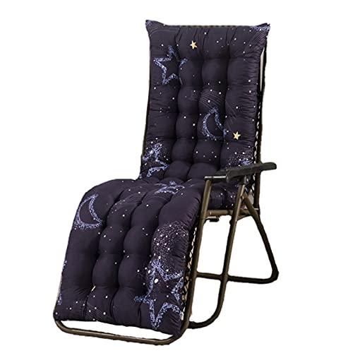 KicKiq - Cuscino a dondolo per sedia a dondolo, 48 x 160 cm, con schienale alto, per sedia da giardino e chaise longue (modello 4,48 x 170 x 8 cm)
