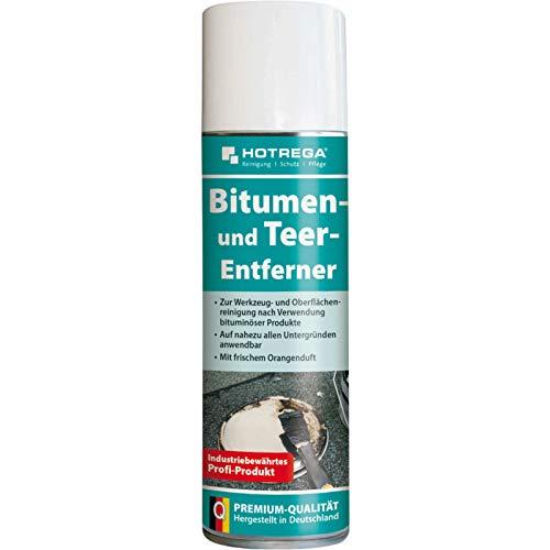 HOTREGA Bitumen- und Teer-Entferner 300 ml - entfernt auch Harz, Ruß, Gummiabrieb