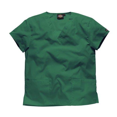 Dickies Workwear Schlupfhemd Medizin 2 Taschen mit V-Ausschnitt 2XL Flaschengrün