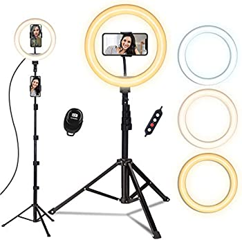 Doosl 10'' Ring Light with 63in Stand & Phone Holder