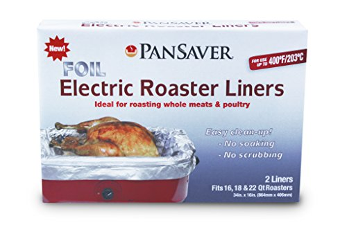 PanSaver Foil Electric Cooking in Roaster Protective Oven Liners, 2 Count
