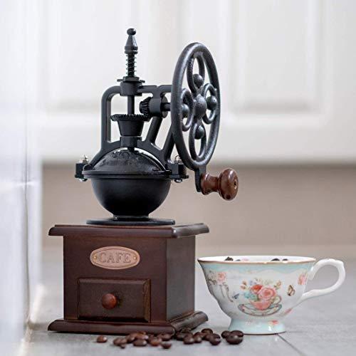 Superrety Handmatige koffiemolen, draagbare espressomachine, Wheel, design, koffiemolen, retro-stijl, voor familie/kantoor