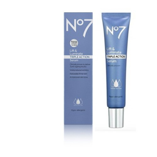 Boots No7 Lift & Luminate TRIPLE ACTION Serum ***50ml*** VISIBLY REDUCES WRINKLES
