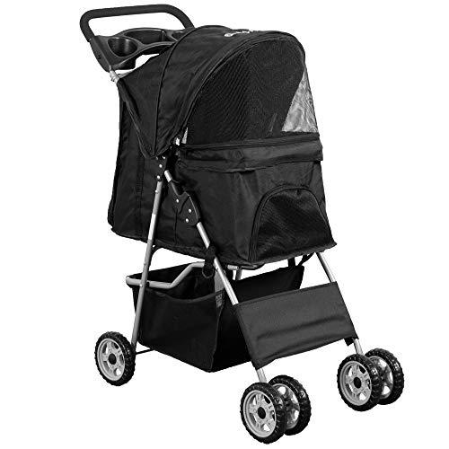 VIVO Black 4 Wheel Pet Stroller