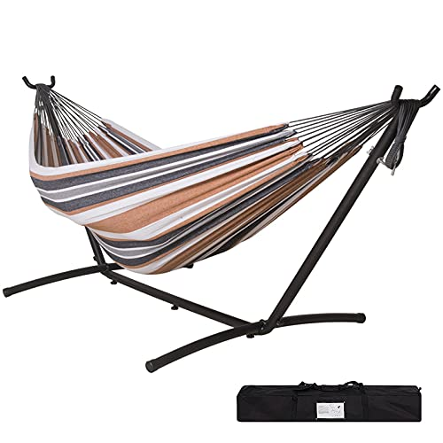 Tuanchuanrp Hammock with Stand, Adjustable Portable Hammock Stand Heavy Duty, Double Hammock with...