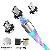 Câble Chargeur Magnetique Micro USB Type C Lighting Charge Rapide Multi 3 en 1 Synchro Données...