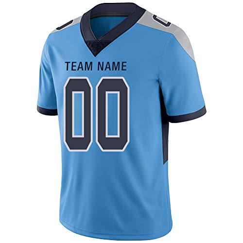 Camiseta de fútbol con diseño de Malla en Blanco, Personalizable, Color Azul, para Mujeres y jóvenes - Azul - Large