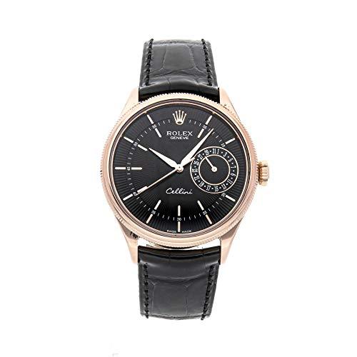 Rolex Cellini Mechanical Black Dial Men's Watch 50515