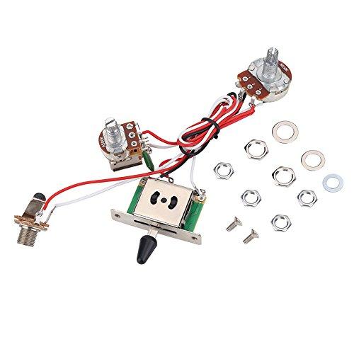 Set Cablaggio Chitarra Elettrica, Kit di Interruttori a 3 Vie Precablati Kit Cablaggio Metallico