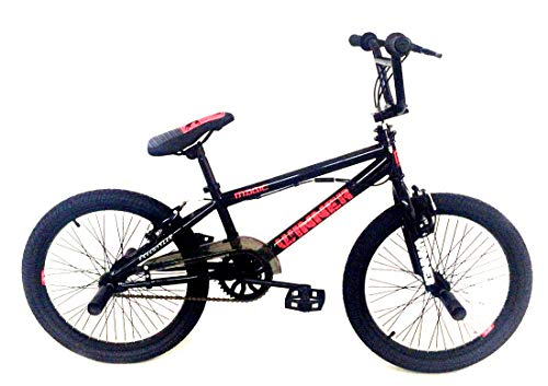 Frank Bikes 20 Zoll Kinder Bike Rad Fahrrad Rad BMX KINDERFAHRRAD JUGENDFAHRRAD Freestyle 360° Rotor 4 Pegs Winner Schwarz Rot