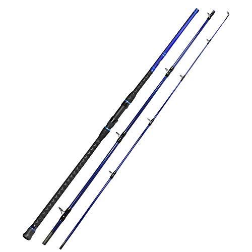 Fiblink Surf Spinning Fishing Rod Carbon Fiber Travel Fishing Rod(11-Feet & 12-Feet & 13-Feet & 15-Feet) (Cast - 11' - 3 Piece)