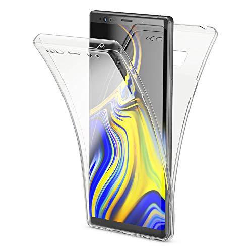 NALIA 360° Cover Totale compatibile con Samsung Galaxy Note 9, Ultra-Slim Full-Body Guscio Fronte & Retro Case, Trasparente Sottile Custodia Silicone Protezione Protettiva Bumper, Colore:Trasparente