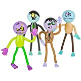 Kicko Bendable Zombies - Pack of 12 Assorted Mini Stretchy Monster Action Figures for Kids and Adults - Perfect for Halloween Decorations, Trick or Treat Bags, Dead Zombie-inspired Parties