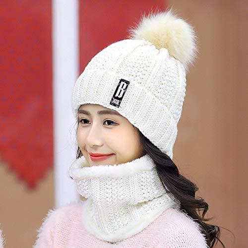 Winter gestrickte Mützen Hüte Frauen Dicke warme Mütze Skullies Hut Weibliche...