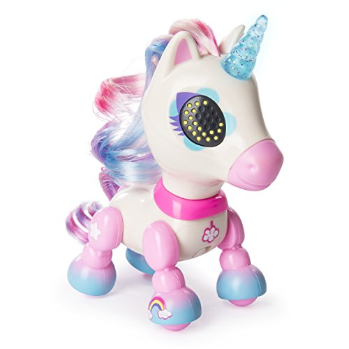 Zoomer - Zupps Tiny Unicorns, Dream, Interactive Unicorn with Light-up Horn, for Ages 4 and Up